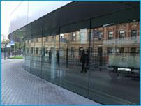 Светопрозрачная конструкция алюминиевого фасада здания